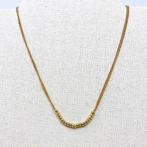 STELLA & DOT Piper Necklace Gold Beaded Layer